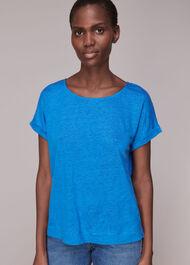 Relaxed Linen TShirt Blue