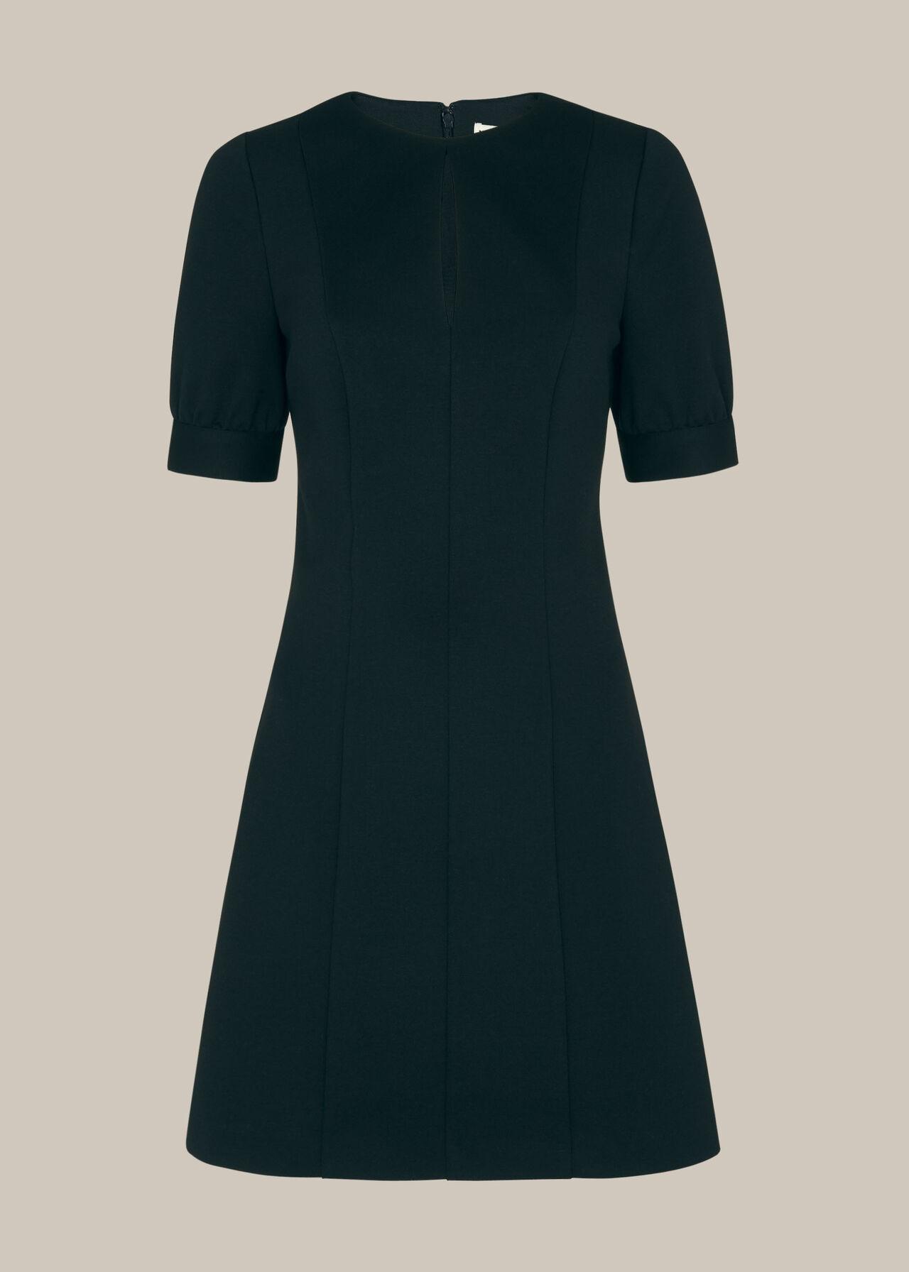 Ponte Puff Jersey Dress Black