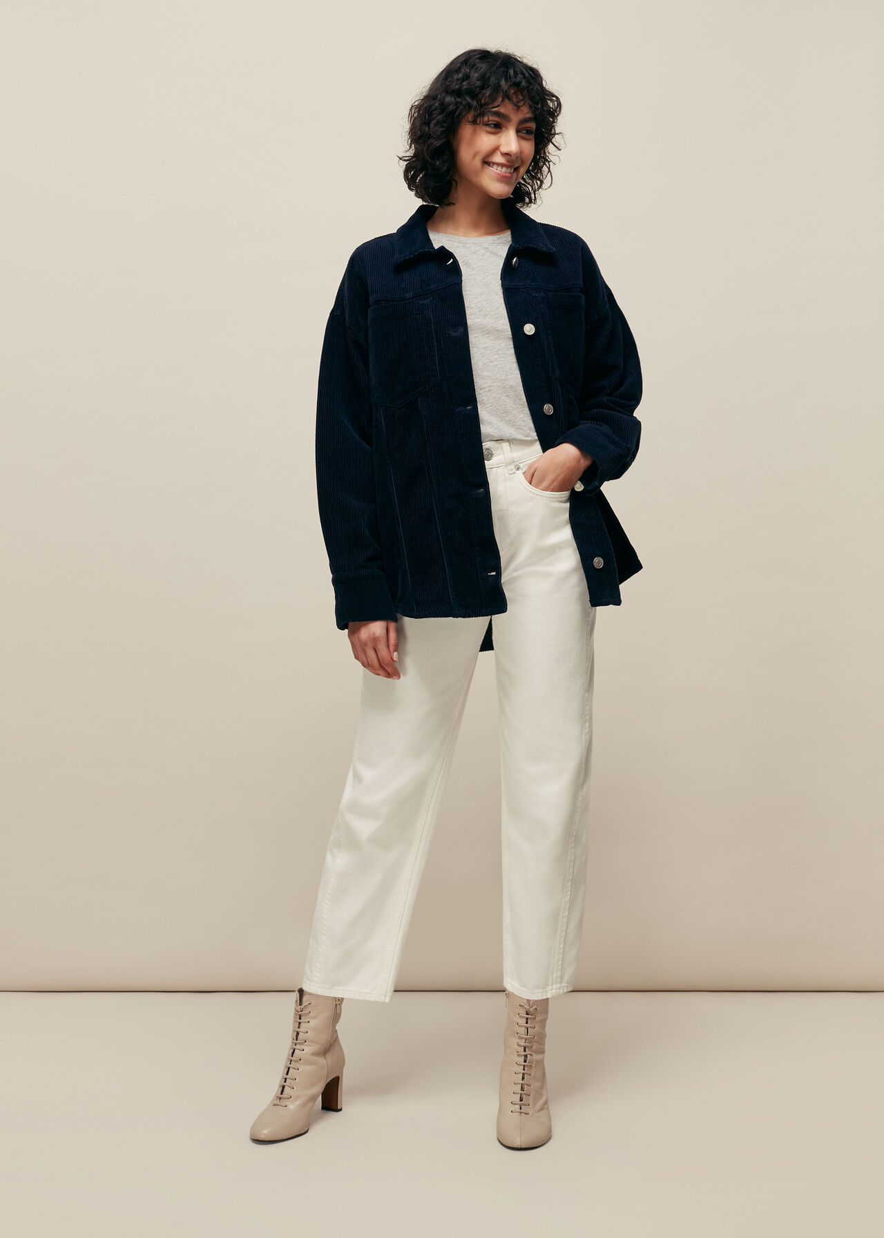 Utility Cord Overshirt Jacket