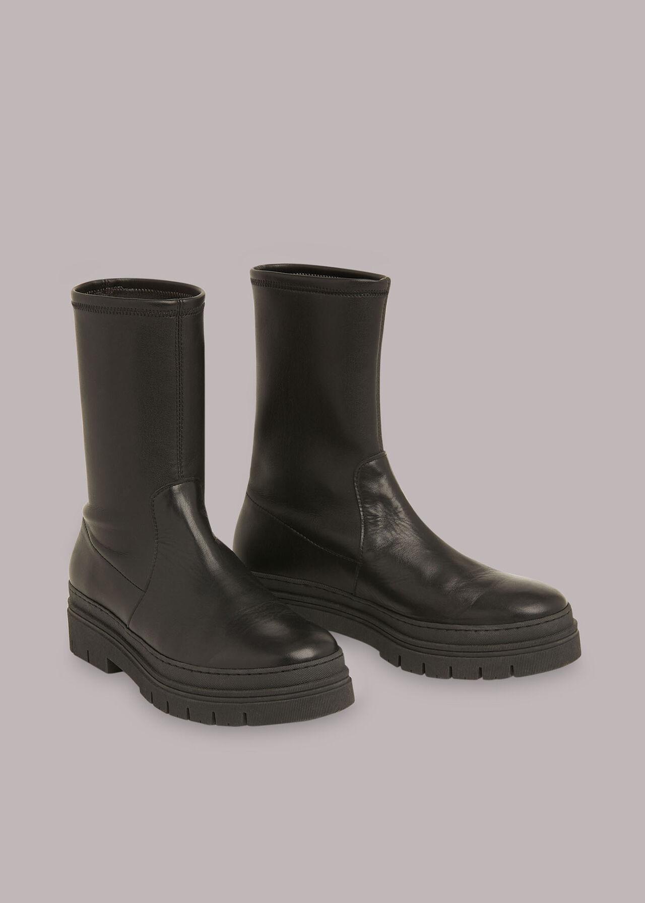 Knole Sock Chunky Chelsea Boot