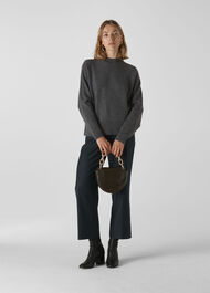 Dolman Cashmere Sweater Grey/Multi
