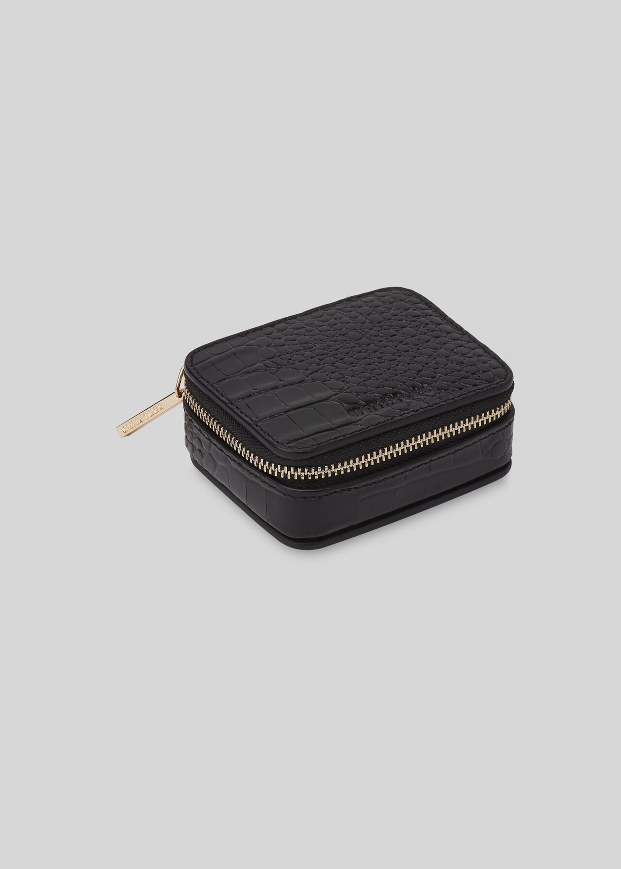 Mini Travel Jewellery Box Black