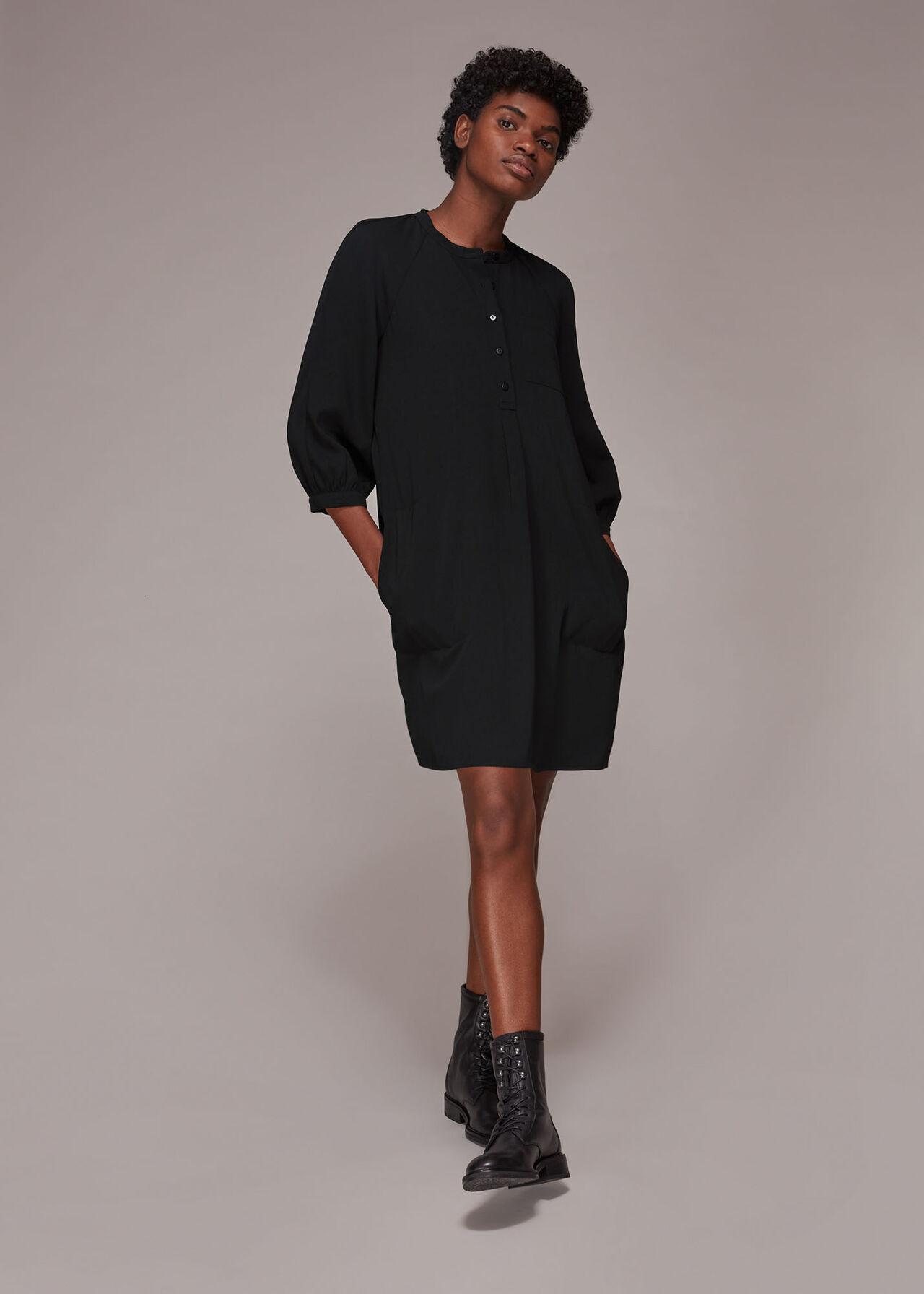 Crepe Cocoon Dress