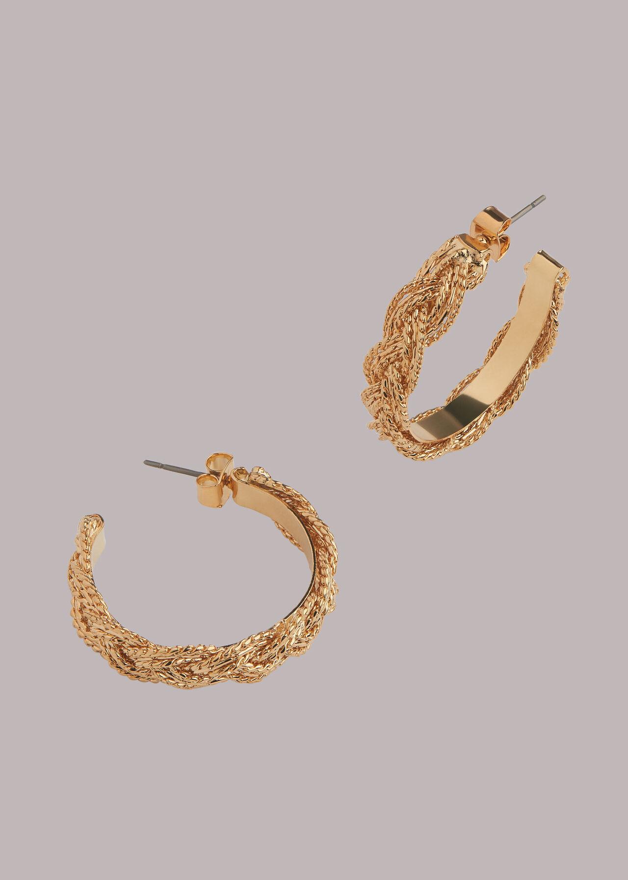Plaited Hoop Earring