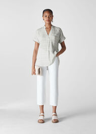 Lavina Check Pocket Shirt White/Multi