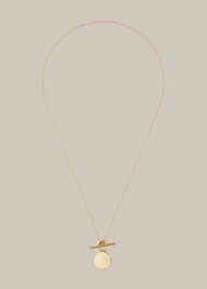 Coin and Bar Necklace Gold/Multi