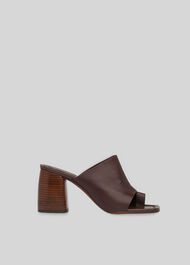 Acre Toe Loop Mule Brown
