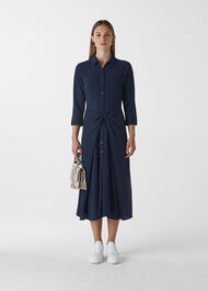 Selma Tie Dress Navy
