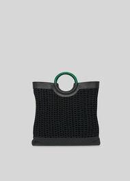 Arkin Crochet Tote Black