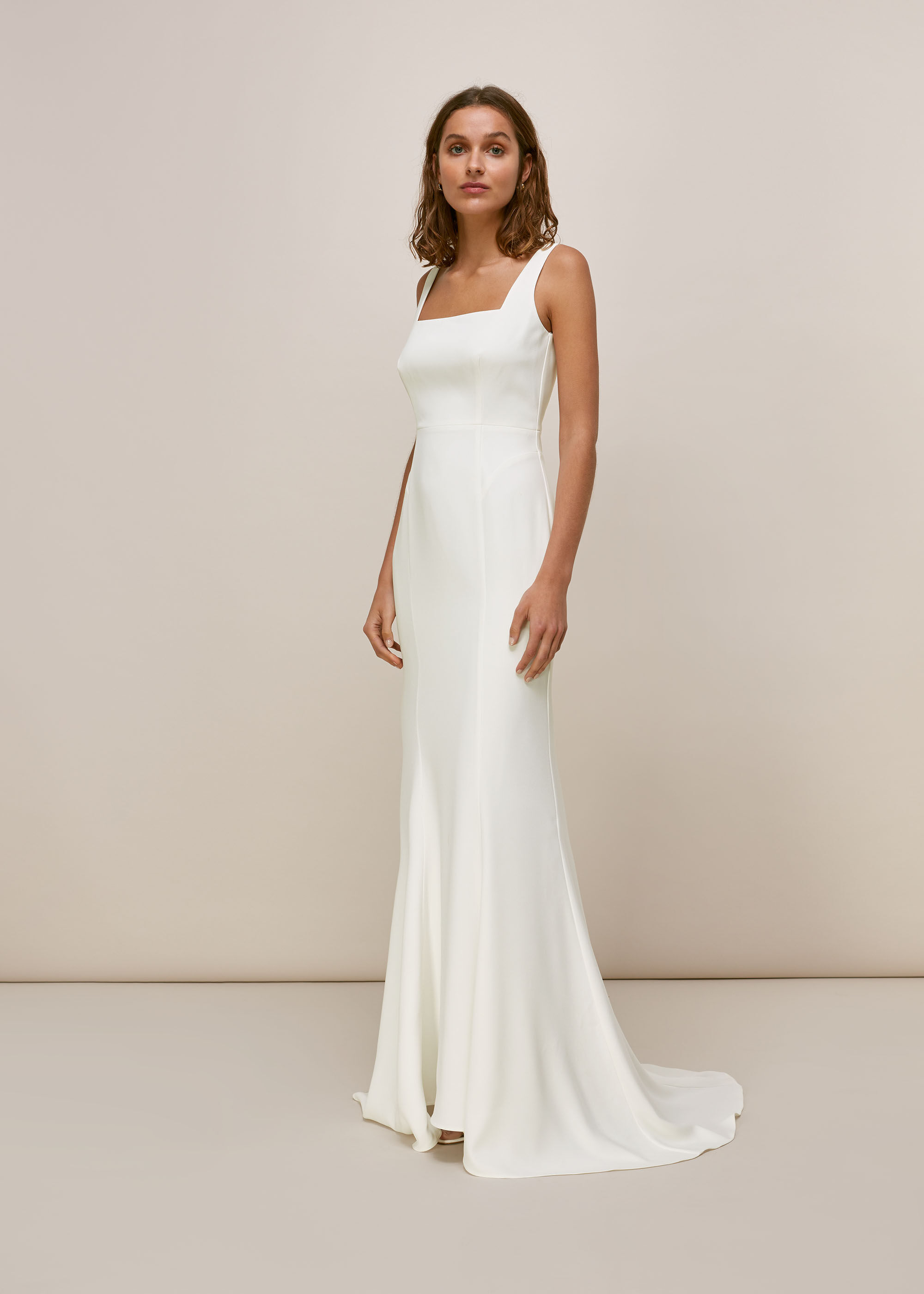 Ivory Mia Square Neck Wedding Dress