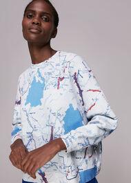 Map Print Sweatshirt