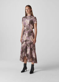 Arabella Floral SIlk Dress Lilac
