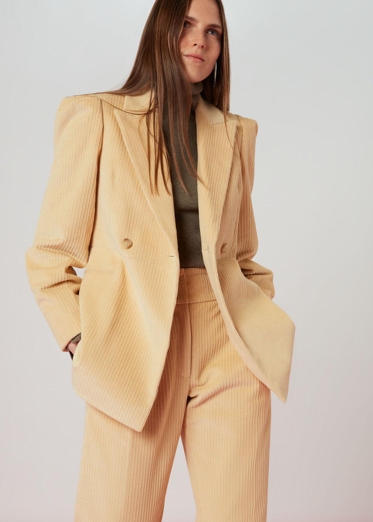 Suki Cord Puff Sleeve Blazer