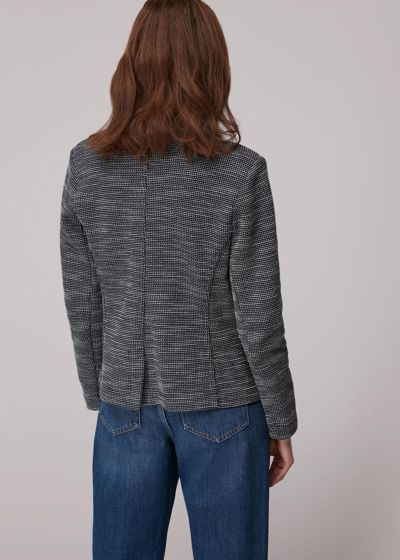 Tweed Slim Jersey Jacket
