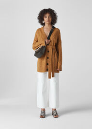 Oversized Cable Cardigan Yellow