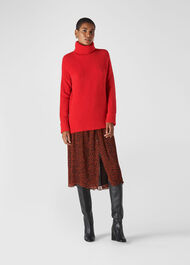 Oversized Roll Neck Red