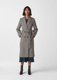 Penelope Belted Check Coat