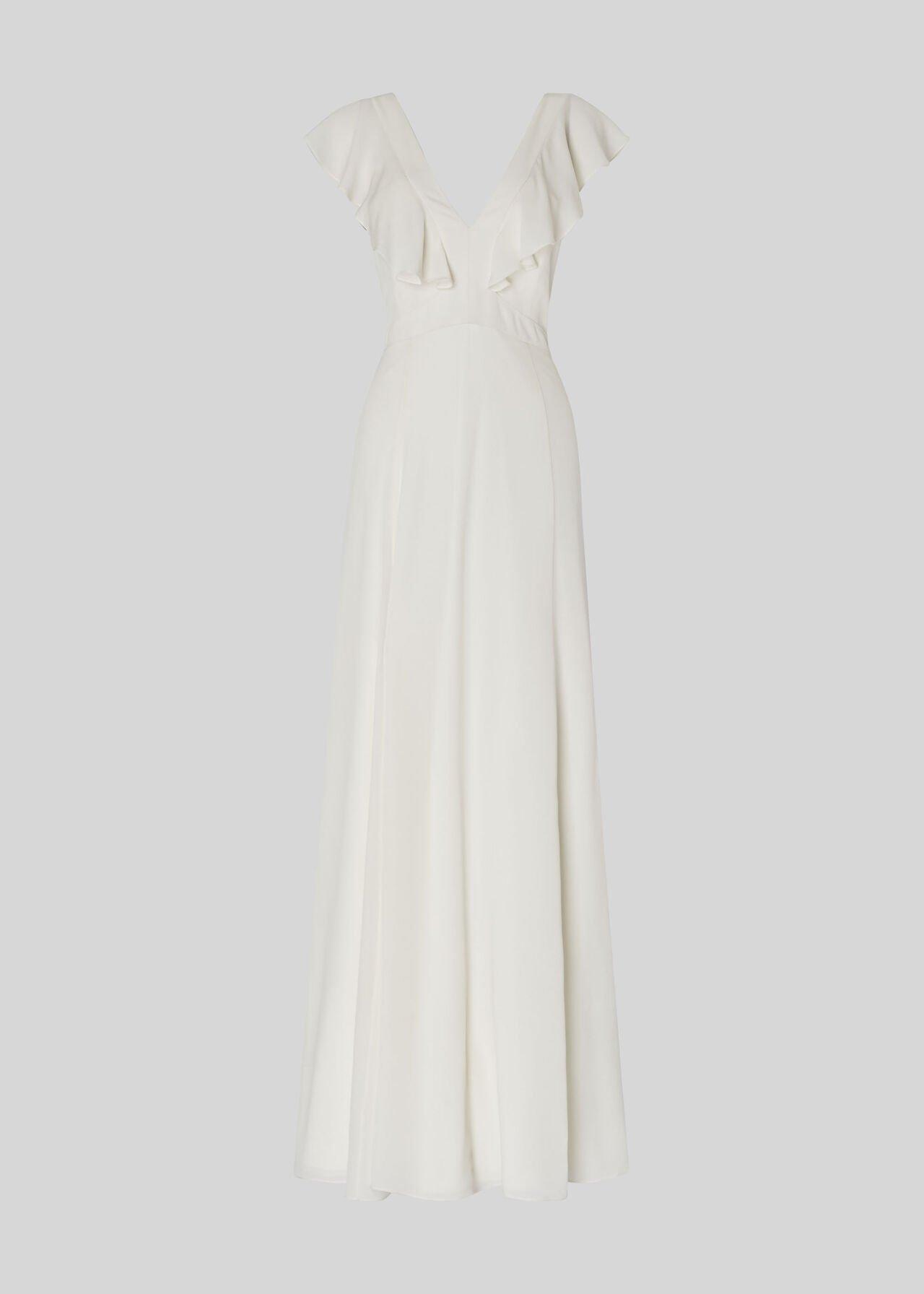 Eve Silk Wedding Dress White