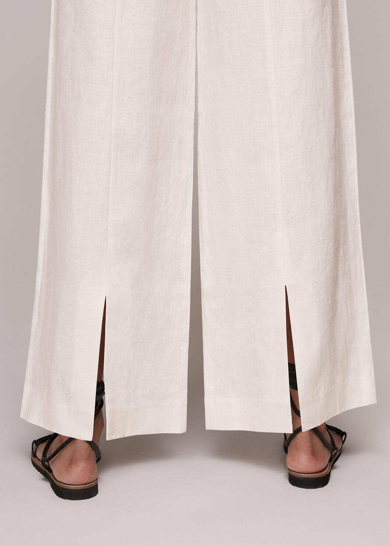 Nina Wide Leg Linen Trouser