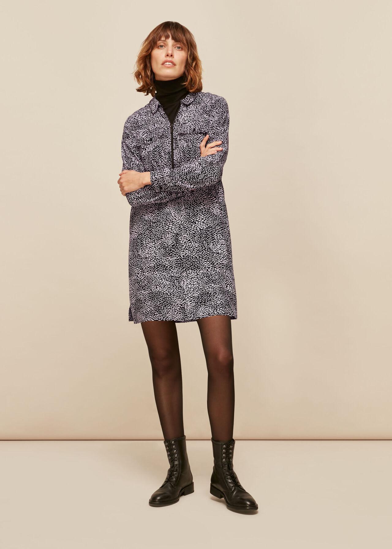 Kay Ripple Print Shift Dress