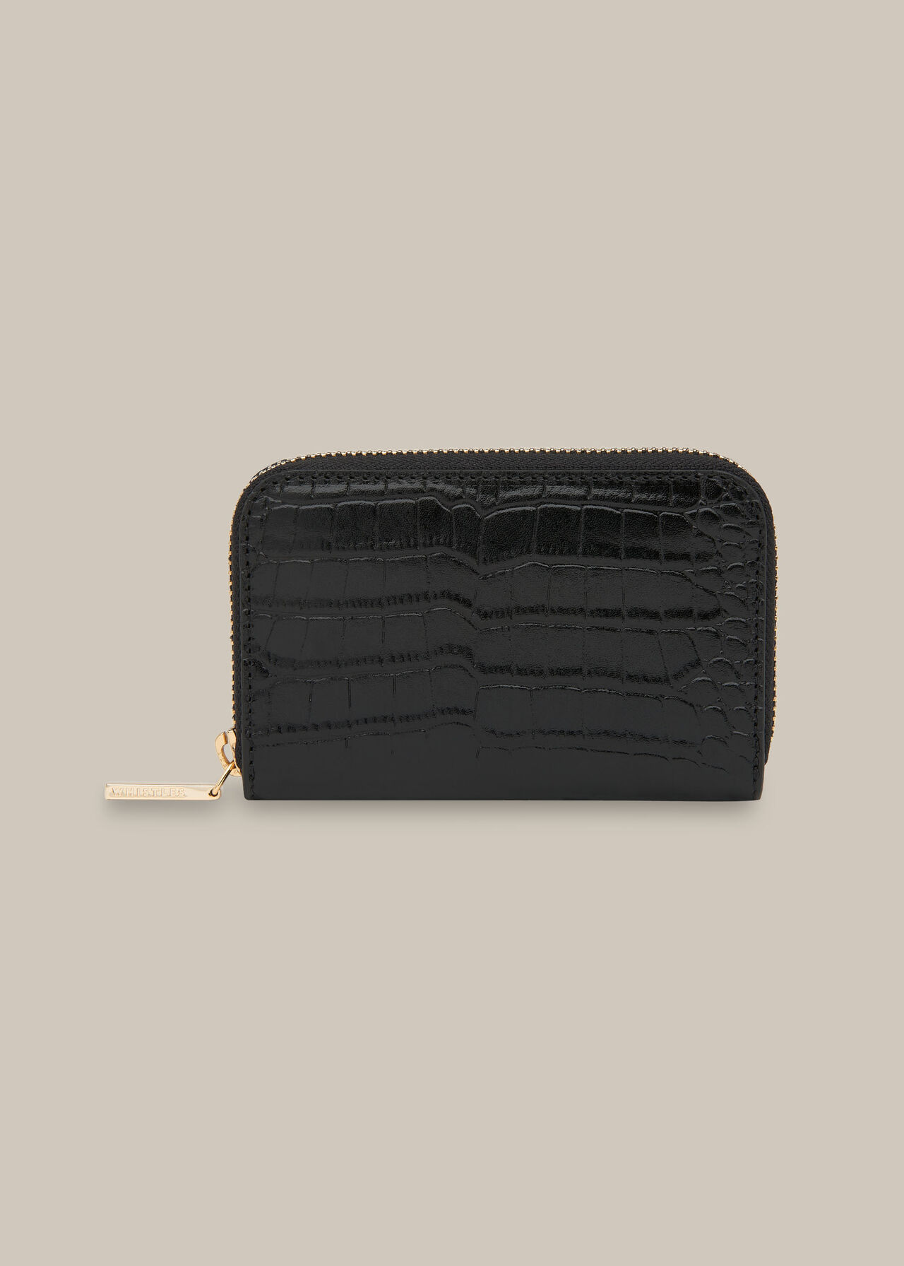 Kira Shiny Croc Zip Purse