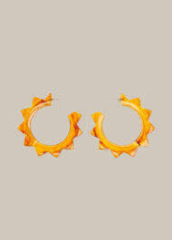 Starburst Resin Earring Orange