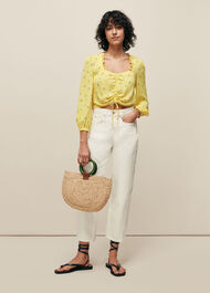 Forget Me Not Drawstring Top Yellow/Multi
