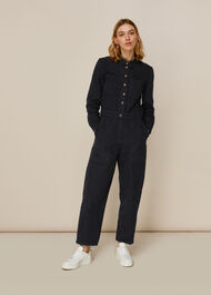 Gabby Denim Jumpsuit Dark Grey