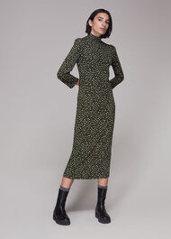 Wild Leopard Jersey Midi Dress