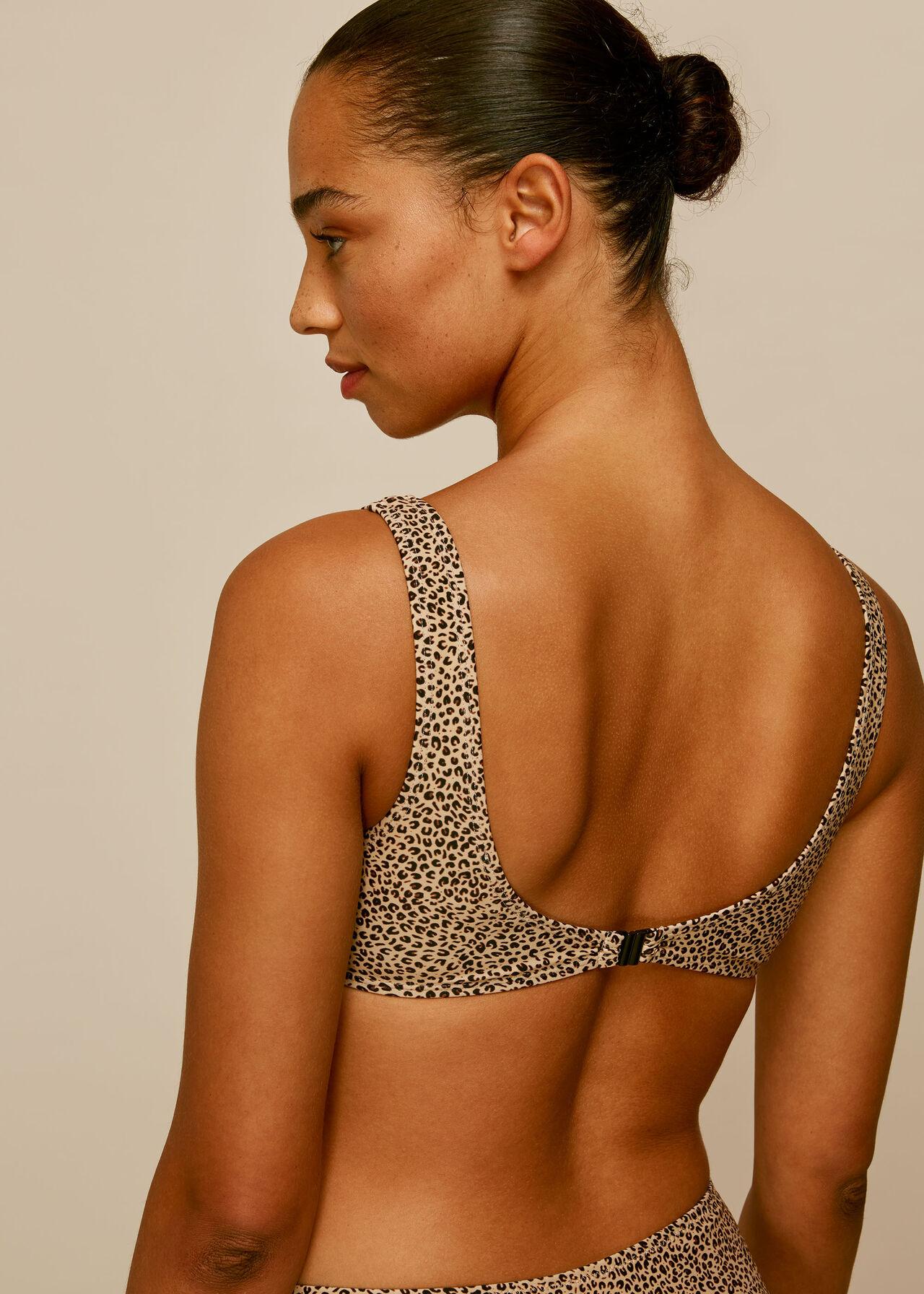 Mini Leopard Square Bikini Top Leopard Print