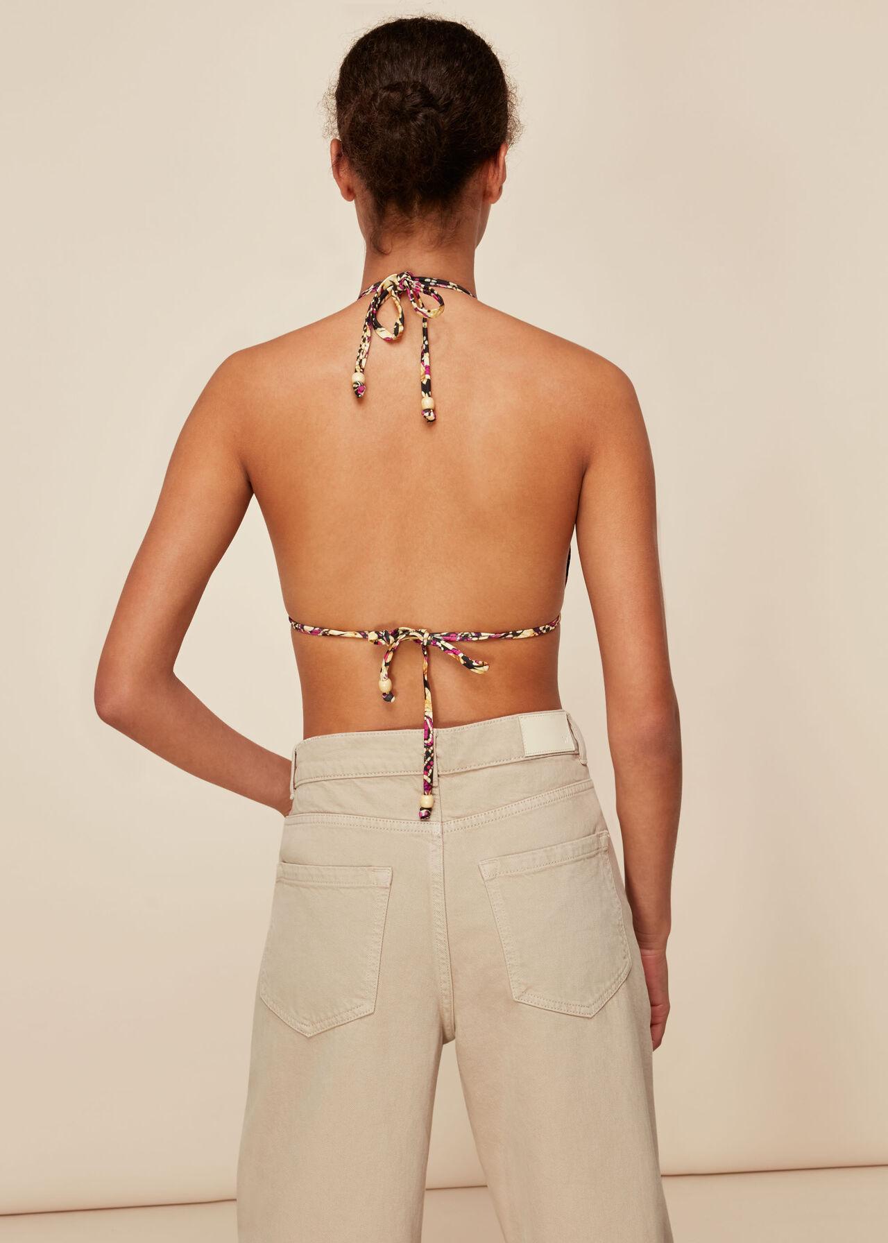 Batik Print Bikini Top