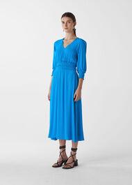 Daryl Smocked Waist Dress Blue