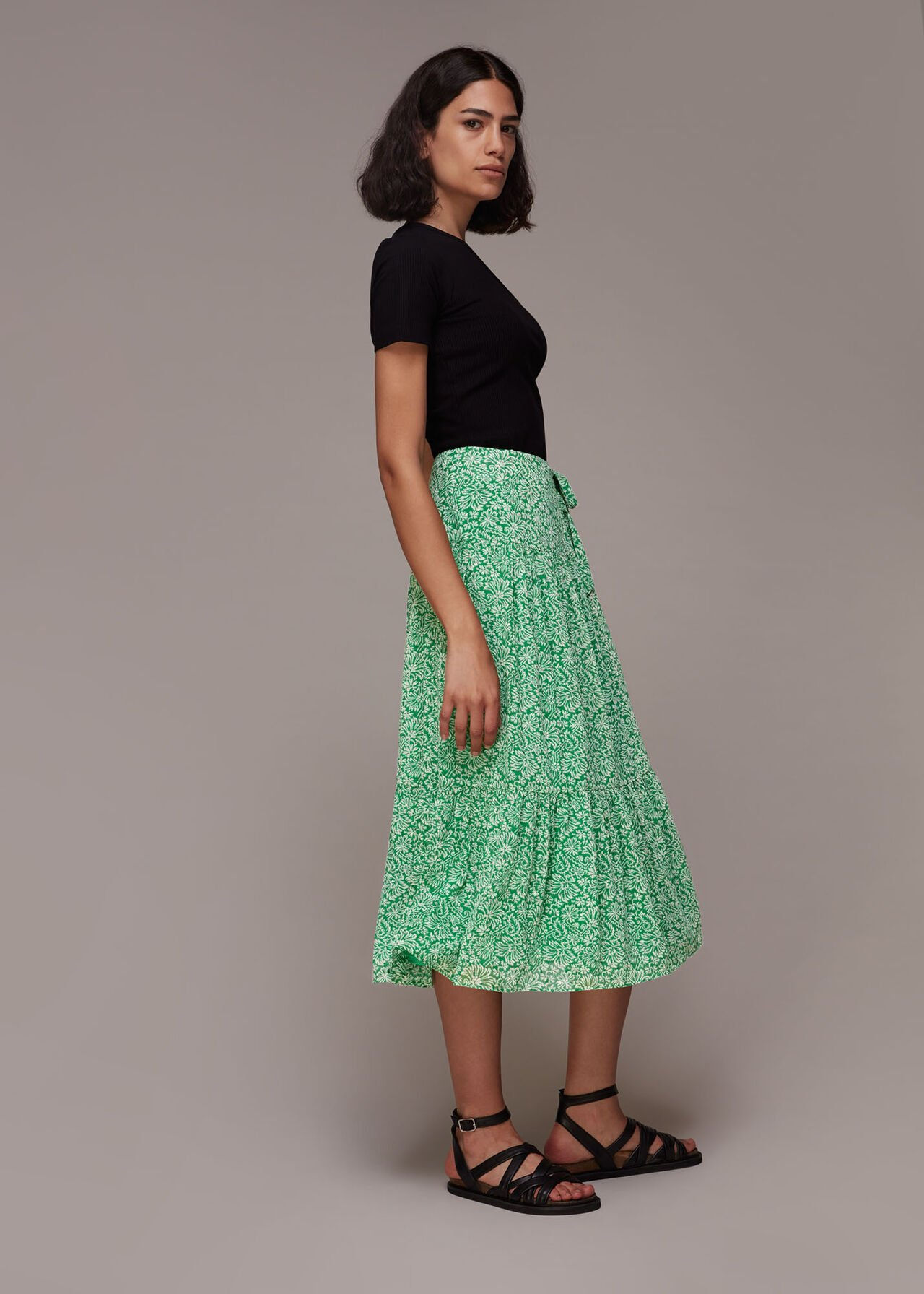 Indo Floral Wrap Skirt