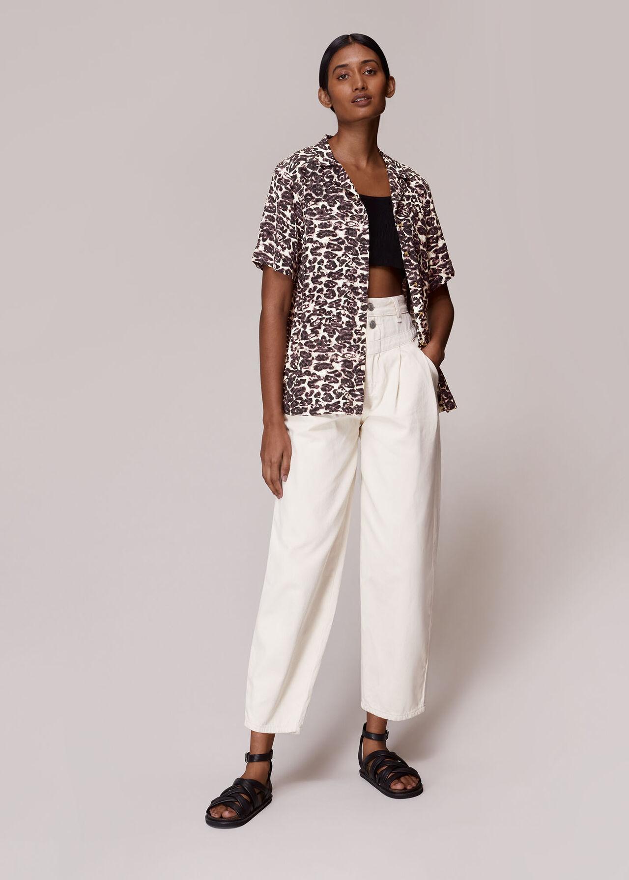 Clouded Leopard Print Shirt