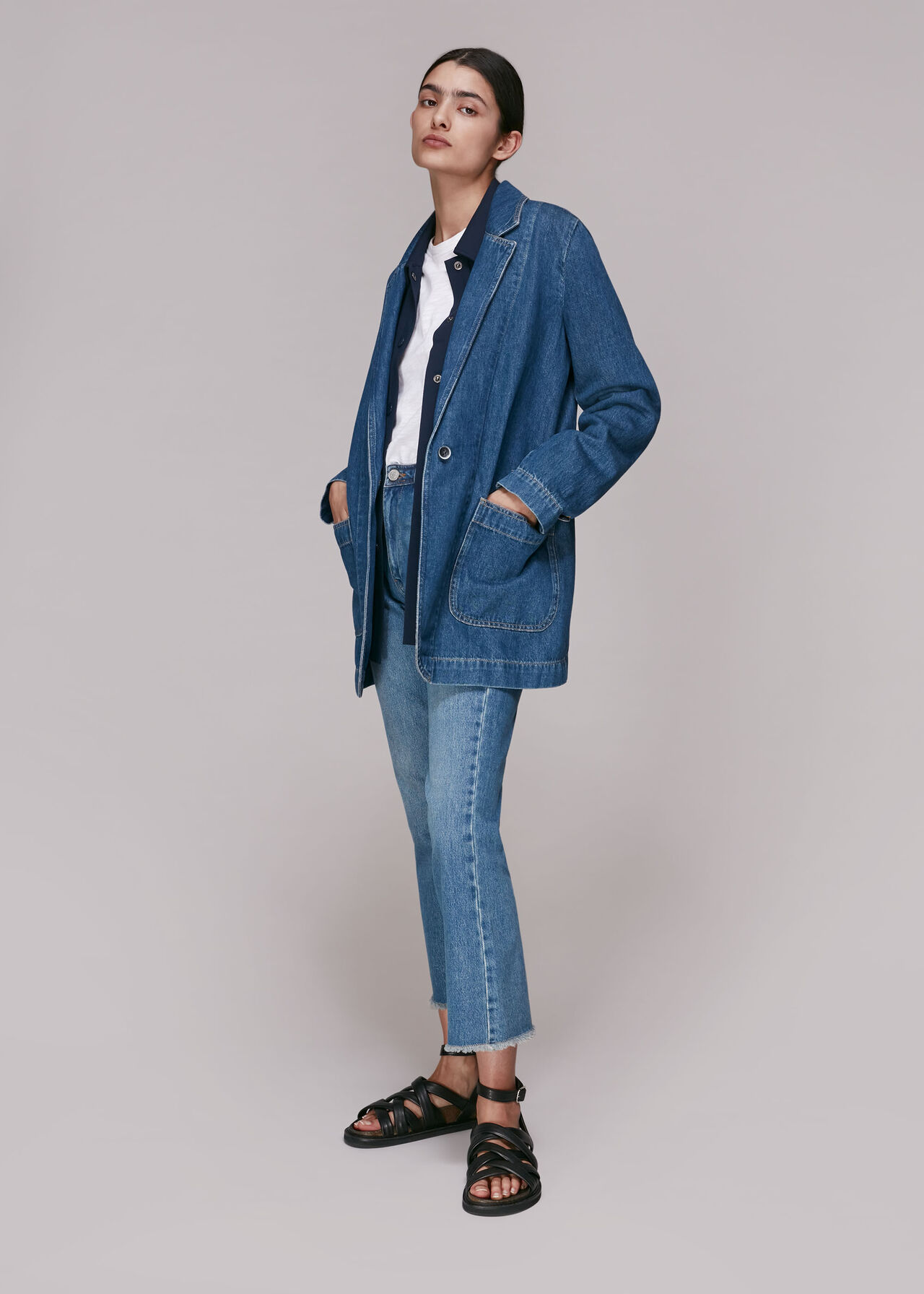 Denim Boyfriend Blazer
