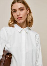 Cotton Longline Shirt White