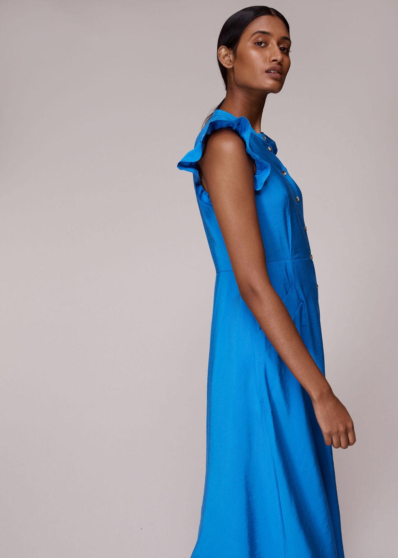 Frill Sleeve Button Dress