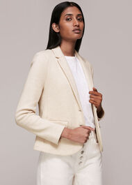 Slim Jersey Jacket Oatmeal