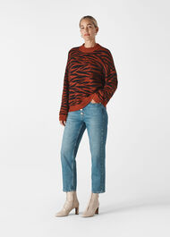 Tiger Stripe Intarsia Knit Multicolour
