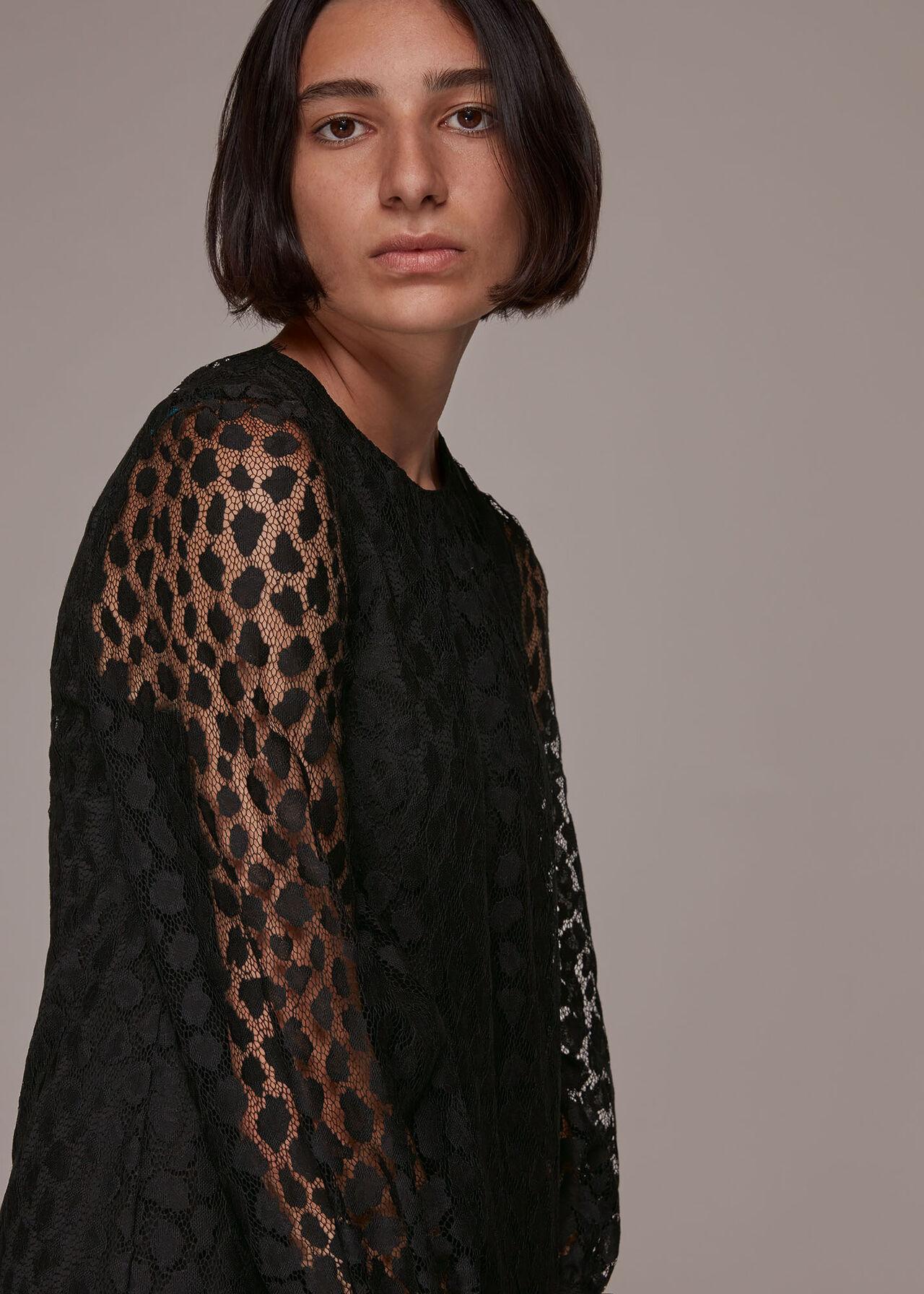 Animal Lace Tie Detail Dress