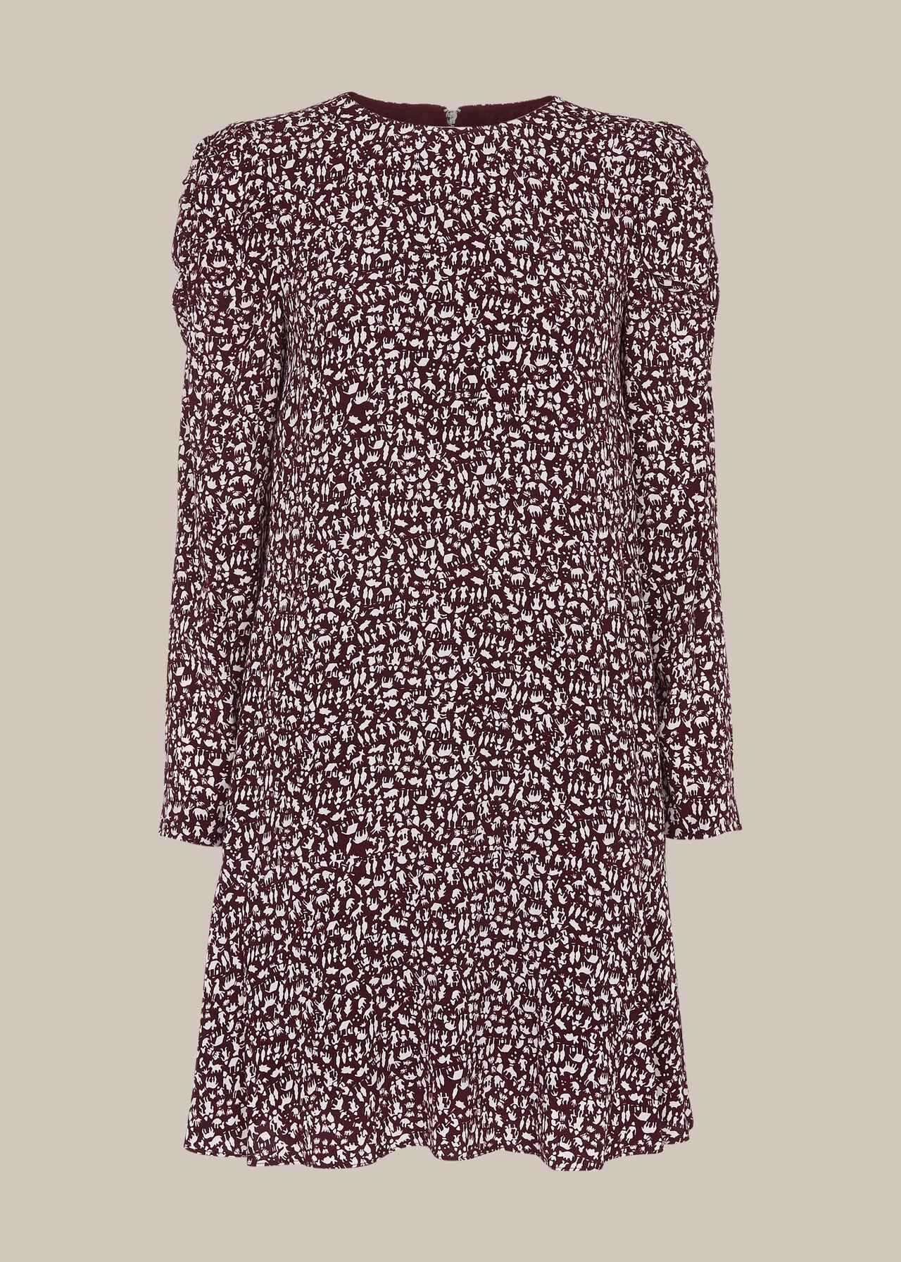 People Print Georgina Dress