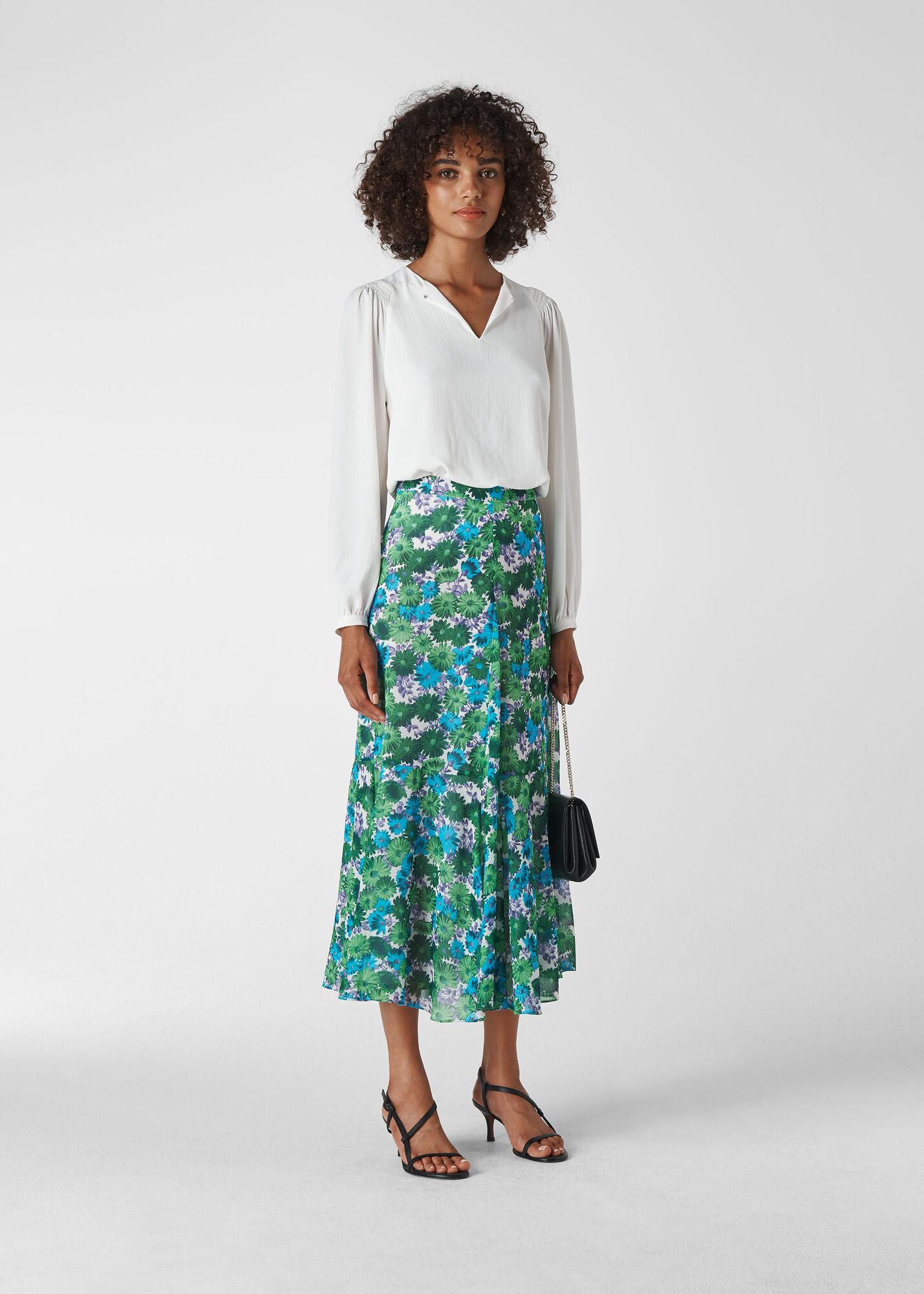 Zinnia Floral Skirt