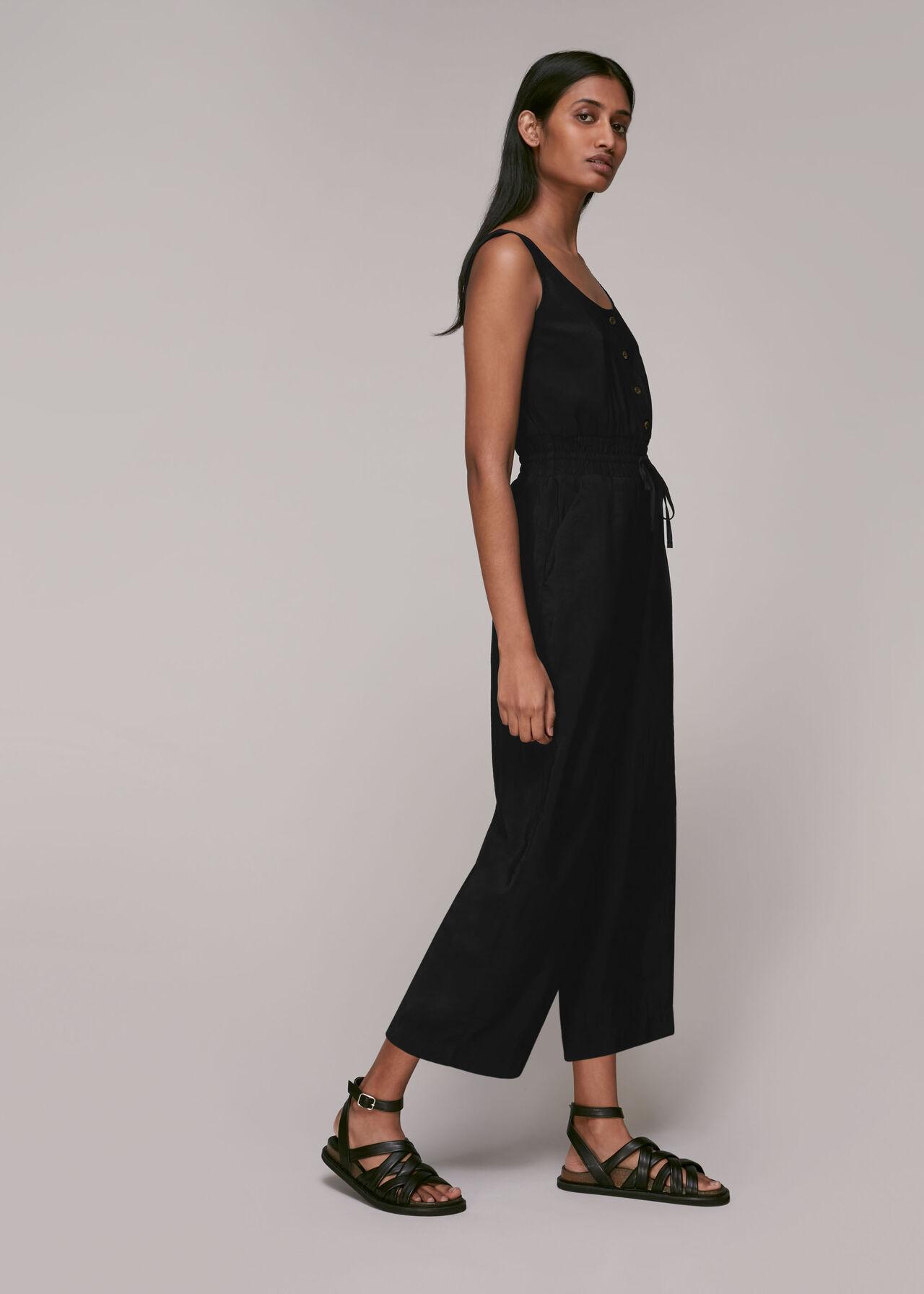Quinn Casual Jumpsuit Black