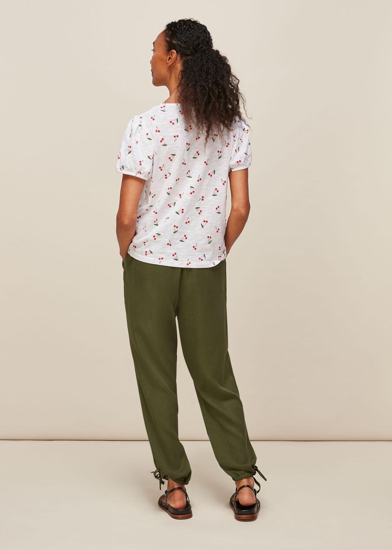 Puff Sleeve Cherry Tshirt