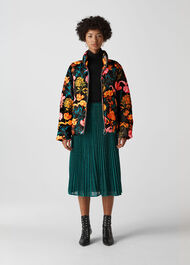 Floral Printed Puffer Multicolour