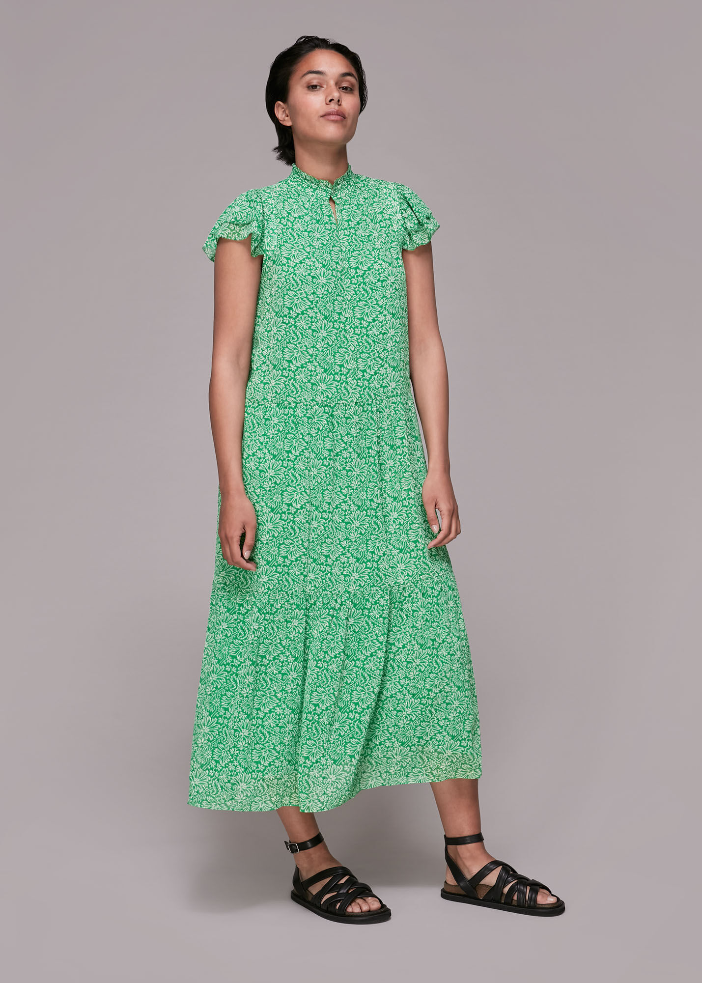 Whistles Women Indo Floral Print Tiered Dress