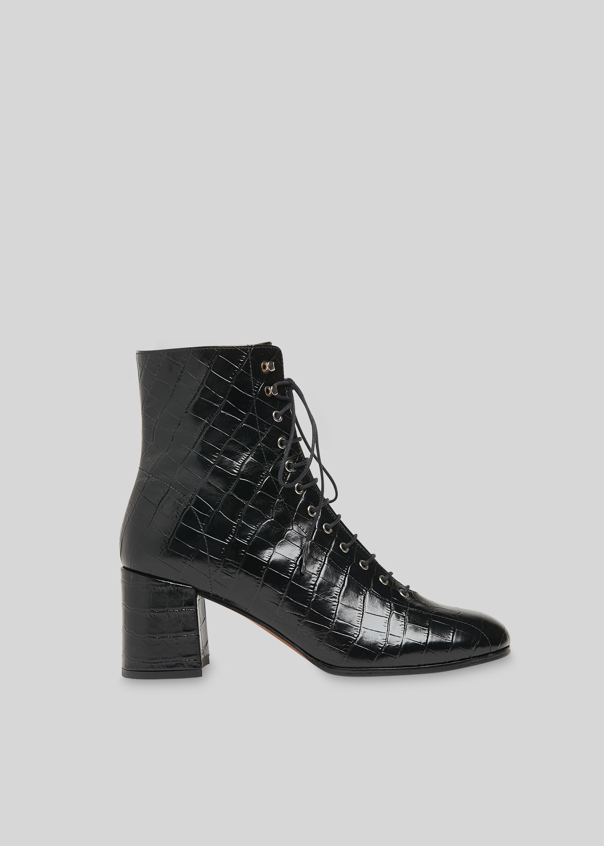 Black Alban Lace Up Boot | WHISTLES