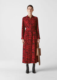 Milla Animal Utility Dress Red/Multi