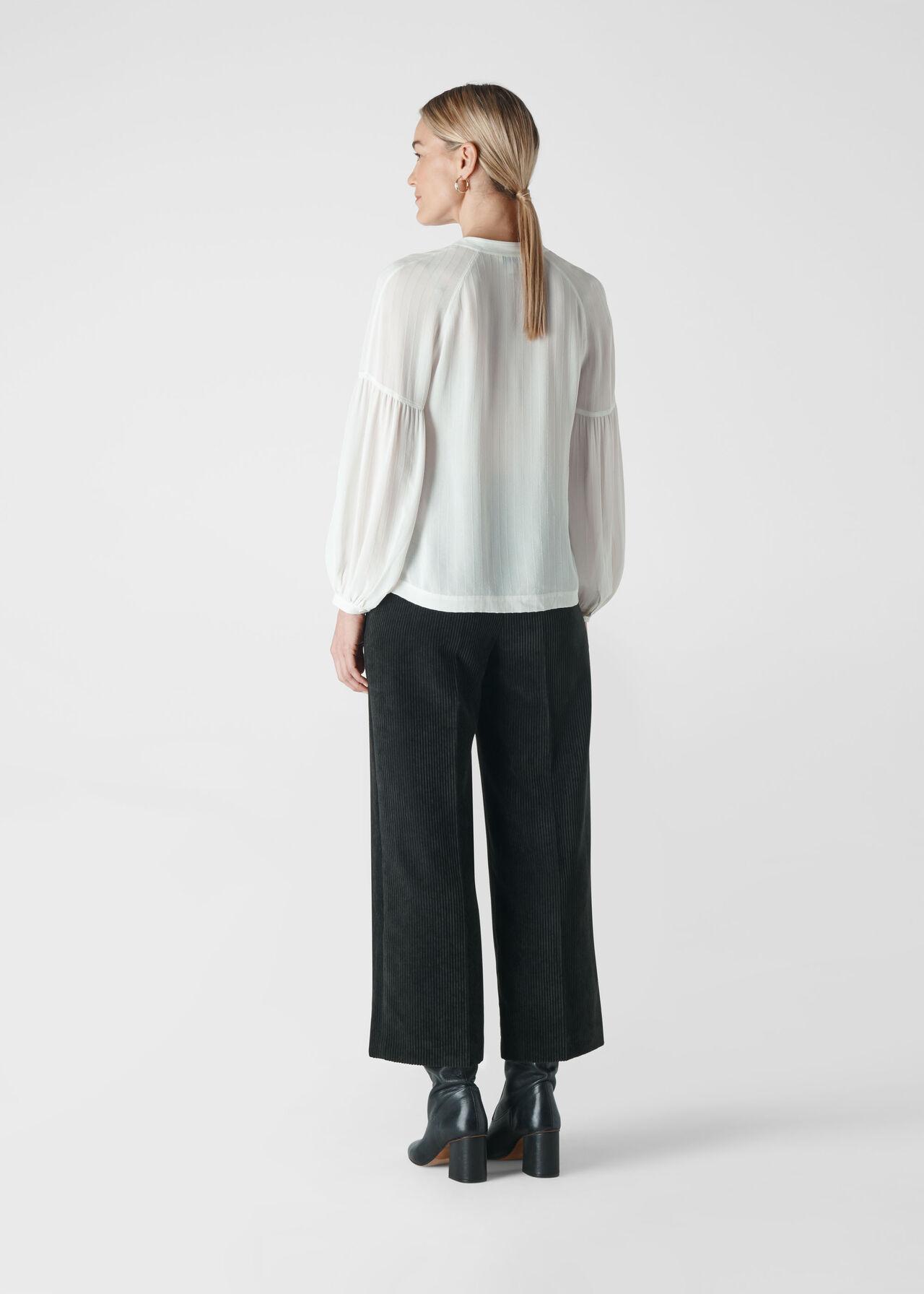 Cristen Stripe Blouse Ivory/Multi