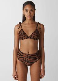 Zebra Print Bikini Bottom Multicolour